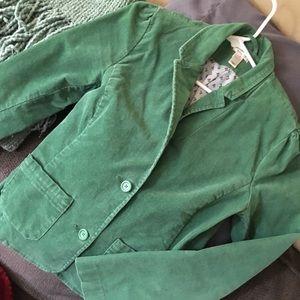 Green corduroy blazer/jacket